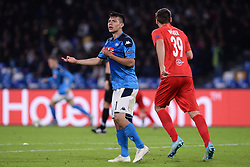November 5, 2019, Napoli, Napoli, Italia: Foto Cafaro/LaPresse.5 Novembre 2019 Napoli, Italia.sport.calcio.SSC Napoli vs FC Salzburg - Uefa Champions League stagione 2019/20 Gruppo E, giornata 4 - stadio San Paolo.Nella foto: Hirving Lozano (SSC Napoli) arrabbiato...Photo Cafaro/LaPresse.November 5, 2019 Naples, Italy.sport.soccer.SSC Napoli vs FC Salzburg - Uefa Champions League 2019/20 season Group E matchday 4 - San Paolo stadium.In the pic: Hirving Lozano (SSC Napoli) gets angry. (Credit Image: © Cafaro/Lapresse via ZUMA Press)