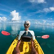 Calm day for ocean kayaking.