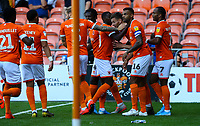 Blackpool's Ryan Edwards celebrates scoring his side's first goal with teammates<br /> <br /> Photographer Alex Dodd/CameraSport<br /> <br /> The EFL Sky Bet League One - Blackpool v Oxford United - Saturday 17th August 2019  - Bloomfield Road - Blackpool<br /> <br /> World Copyright © 2019 CameraSport. All rights reserved. 43 Linden Ave. Countesthorpe. Leicester. England. LE8 5PG - Tel: +44 (0) 116 277 4147 - admin@camerasport.com - www.camerasport.com