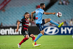 December 15, 2018 - Sydney, NSW, U.S. - SYDNEY, NSW - DECEMBER 15: Sydney FC forward Alex Brosque (14) controls the ball at the Hyundai A-League Round 8 soccer match between Western Sydney Wanderers FC and Sydney FC at ANZ Stadium in NSW, Australia on December 15, 2018. (Photo by Speed Media/Icon Sportswire) (Credit Image: © Speed Media/Icon SMI via ZUMA Press)