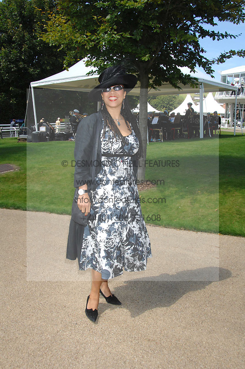 MRS GAVIN BURKE, she is actress Nimmy March at the 4th day of the Glorious Goodwood racing festival 2007 held at Goodwood Racecourse, West Sussex on 3rd August 2007.<br />