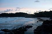 Itacare beach at sunset, Bahia, Brazil.