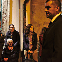 People on the street attending Ecce Homo procession