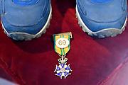 Perspreview 50 jaar Koninklijk Paleis Amsterdam.<br /> <br /> Op de foto:  medaille van de Nijmeegse vierdaagse
