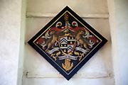 Hatchment memorial for Edmund Tyrell died 1799, Saint Nicholas chapel, Gipping, Suffolk, England, UK