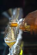 pouring the wine chateau d'yquem sauternes bordeaux france