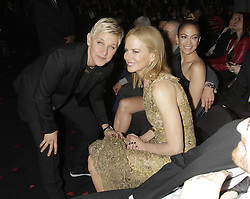 Ellen DeGeneres, Nicole Kidman and Jennifer Lopez are seen in the audience at the 55th Annual Grammy Awards on February 10, 2013 in Los Angeles, California. CBS/Francis Specker /Landov