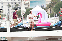 Eva Longoria is seen for a photo shooting at the Beach in Cannes. 22 May 2017 Pictured: Eva Longoria. Photo credit: LUCA TEUCHMANN / MEGA TheMegaAgency.com +1 888 505 6342