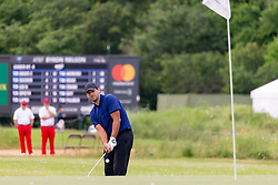 May 9, 2019 - Dallas, TX, U.S. - DALLAS, TX - MAY 09: Tony Romo chips from just off the 13th green during the first round of the AT&T Byron Nelson on May 9, 2019 at Trinity Forest Golf Club in Dallas, TX. (Photo by Andrew Dieb/Icon Sportswire) (Credit Image: © Andrew Dieb/Icon SMI via ZUMA Press)