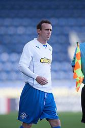 Morton's David O'Brein.<br /> Falkirk 3 v 1 Morton, Scottish Championship 17/8/2013.<br /> ©Michael Schofield.