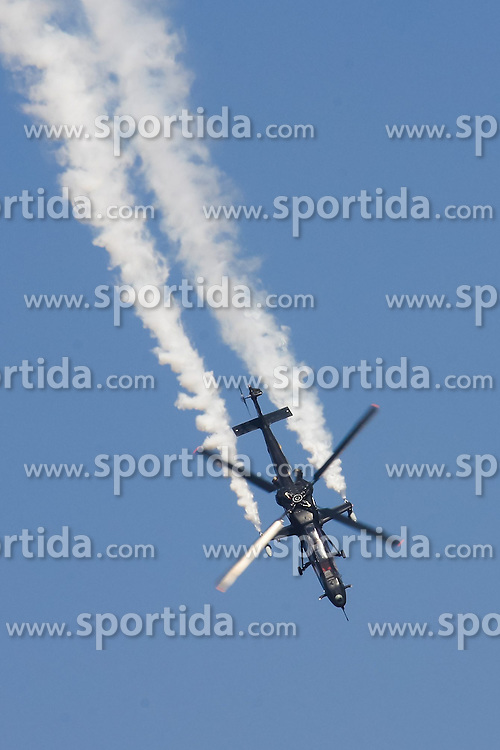 An Indian Air Force's Light Combat Helicopter flies during the inauguration of the Aero India 2015 in Air Force Station Yelahanka of Bangalore, India, Feb. 18, 2015. The biennial air show this year attracted dealers from 49 countries, showcasing their aero-related products in military and civilian fields. EXPA Pictures © 2015, PhotoCredit: EXPA/ Photoshot/ Zheng Huansong<br /> <br /> *****ATTENTION - for AUT, SLO, CRO, SRB, BIH, MAZ only*****