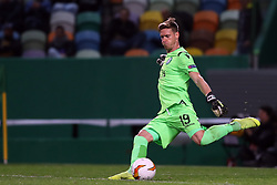 February 14, 2019 - Lisbon, Portugal - Sporting's goalkeeper Romain Salin from France in action during the UEFA Europa League Round of 32 First Leg football match Sporting CP vs Villarreal CF at Alvalade stadium in Lisbon, Portugal on February 14, 2019. (Credit Image: © Pedro Fiuza/NurPhoto via ZUMA Press)