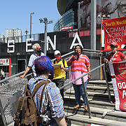Speaker Cllr Soraya Adejare is a Hackney Councillor at Anti racism campaigners gather outside Emirates Stadium to Take The Knee in support of the England football players who endured racial abuse after the Euro Final on 17th July 2021, London, UK.