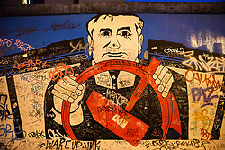 File picture - Illustration of Berlin Wall in Berlin , Germany, on May, 2018. At the 30th Anniversary of the Fall of The Berlin Wall, a former symbol of division, is now the world's largest graffiti gallery. Photo by Denis Prezat/Avenir Pictures/ABACAPRESS.COM