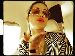 """Rita Ora releases a photo on Instagram with the following caption: """"Berlin we have arrived!!! Thank you @JetSmarter for always looking after me. \ud83d\ude0a\u2764\ufe0f"""". Photo Credit: Instagram *** No USA Distribution *** For Editorial Use Only *** Not to be Published in Books or Photo Books ***  Please note: Fees charged by the agency are for the agency's services only, and do not, nor are they intended to, convey to the user any ownership of Copyright or License in the material. The agency does not claim any ownership including but not limited to Copyright or License in the attached material. By publishing this material you expressly agree to indemnify and to hold the agency and its directors, shareholders and employees harmless from any loss, claims, damages, demands, expenses (including legal fees), or any causes of action or allegation against the agency arising out of or connected in any way with publication of the material."""