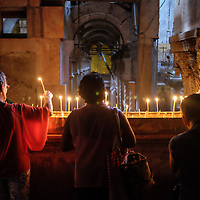 The Holy Church of the Sepulchre. This is where Jesus was crucified, where he was buried and resurrected.