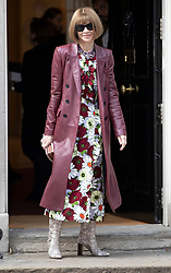 © Licensed to London News Pictures. 18/09/2018. London, UK. US Vogue editor Anna Wintour arrives in Downing Street to attend a  Fashion Week reception hosted by Prime Minister Theresa May. Photo credit: Peter Macdiarmid/LNP