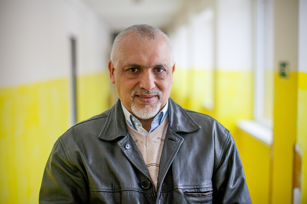 Portrait of volunteer and Roma activist Miroslav Klempar. Mr. Klempar lived with his family for 13 years in the UK and is now back and working in his home town Ostrava with the Roma community.