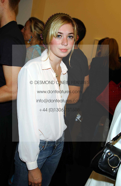 MISS ANOUSKA GERHAUSER daughter of Tamara Beckwith at a party to celebrate the opening of an exhibition of photographs by the late Norman Parkinson held at Hamiltons gallery, 13 Carlos Place, London W1 on 14th September 2004.<br /><br />NON EXCLUSIVE - WORLD RIGHTS
