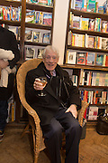 GEOFFREY BURNS,  Allie Esiri's The Love Book launch party , Daunt Books <br /> 83 Marylebone High Street, London. 5 February 2014