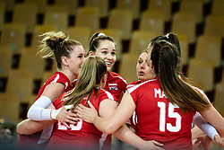Players of Austria react after point during volleyball match between Slovenia and Austria in CEV Volleyball European Silver League 2021, on 6 of June, 2021 in Dvorana Ljudski Vrt, Maribor, Slovenia. Photo by Blaž Weindorfer / Sportida
