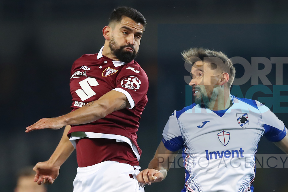 Tomas Rincon of Torino FC and Gaston Ramirez of Sampdoria during the Serie A match at Stadio Grande Torino, Turin. Picture date: 8th February 2020. Picture credit should read: Jonathan Moscrop/Sportimage