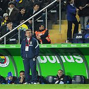 Fenerbahce's coach Aykut KOCAMAN during their Turkish superleague soccer match Fenerbahce between Kayserispor at the Sukru Saracaoglu stadium in Istanbul Turkey on Monday 14 February 2011. Photo by TURKPIX