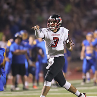 (Photograph by Bill Gerth/ for SVCN/9/1/17) Westmont #3 Cameron Rottler throws a touchdown pass vs Prospect in a preseason football game at Prospect High School, Saratoga CA on 9/1/17. (Westmont 20 Prospect 0)