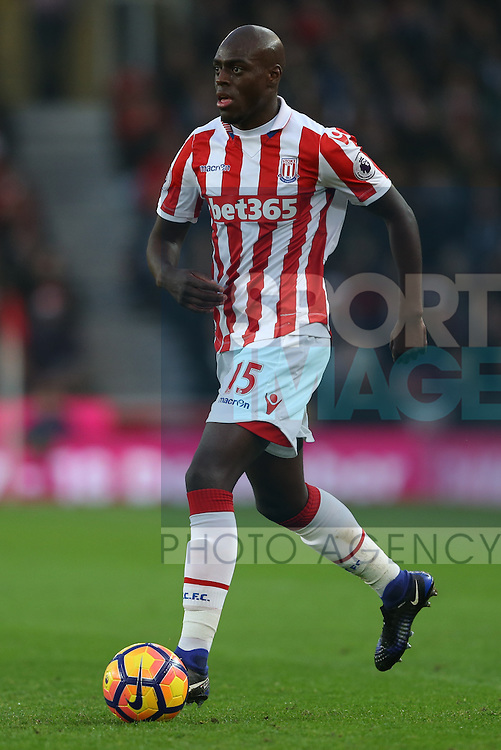 Bruno Martins Indi of Stoke City  during the English Premier League match at the Bet 365 Stadium, Stoke on Trent. Picture date: December 17th, 2016. Pic Simon Bellis/Sportimage
