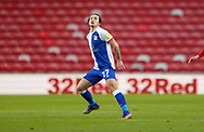 Blackburn Rovers defender Lewis Travis (27)  during the EFL Sky Bet Championship match between Middlesbrough and Blackburn Rovers at the Riverside Stadium, Middlesbrough, England on 24 January 2021.