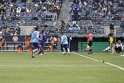 March 17, 2018 - New York, New York, United States - Jesus Medina (19) of NYC FC controls ball during regular MLS game against Orlando City SC at Yankee stadium NYC FC won 2 - 0 (Credit Image: © Lev Radin/Pacific Press via ZUMA Wire)