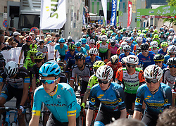 22.04.2019, Kufstein, AUT, Tour of the Alps, 1. Etappe, Kufstein - Kufstein, 144km, im Bild // Start at Kufstein during the 1st Stage of the Tour of the Alps Cyling Race from Kufstein to Kufstein (144km) in in Kufstein, Austria on 2019/04/22. EXPA Pictures © 2019, PhotoCredit: EXPA/ Reinhard Eisenbauer