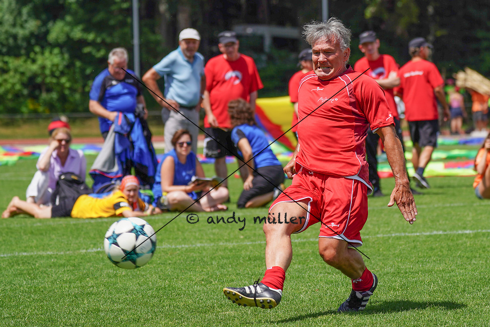 07.07.2019; Magglingen; Plusport-Tag;<br /> Erni Maissen (Suisse Legends) <br /> (Andy Mueller/freshfocus)