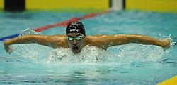 TOKYO, Oct. 28, 2014  Chad Le Clos of South Africa competes in the men's 200m butterfly heat at the FINA Swimming World Cup in Tokyo, Japan, Oct. 28, 2014. Le Clos won the 1st place. (Xinhua/Stringer). (Credit Image: © Xinhua via ZUMA Wire)