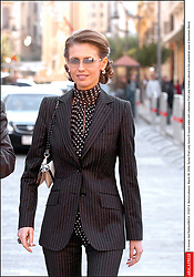 File photo - © Ammar Abd Rabbo/ABACA. 57007-4. Beirut-Lebanon. March 08, 2004. Syrian First Lady Asma El Assad walks with Lebanese First Lady Andree Lahoud in the pedestrian area of downtown Beirut.