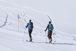 THEMENBILD - Skitourengeher am Kitzsteinhorn Gletscherskigebiet, aufgenommen am 13. Februar 2021 in Kaprun, Österreich // Ski Touring at the Kitzsteinhorn glacier ski resort in Kaprun, Austria on 2021/02/13. EXPA Pictures © 2021, PhotoCredit: EXPA/ JFK