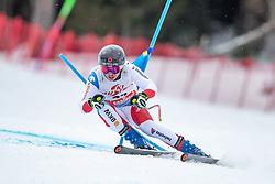 14.02.2020, Zwölferkogel, Saalbach Hinterglemm, AUT, FIS Weltcup Ski Alpin, Super G, Herren, im Bild Gino Caviezel (SUI) // Gino Caviezel of Switzerland in action during his run for the men's SuperG of FIS Ski Alpine World Cup at the Zwölferkogel in Saalbach Hinterglemm, Austria on 2020/02/14. EXPA Pictures © 2020, PhotoCredit: EXPA/ Johann Groder
