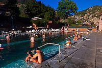 Mineral pools, Glenwood Hot Springs, Glenwood Springs, Colorado USA