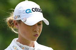 SINGAPORE, March 3, 2018  Nelly Korda of the United States reacts during the 3rd round of the HSBC Women's World Championship held in Singapore's Sentosa Golf Club on March 3, 2018. (Credit Image: © Then Chih Wey/Xinhua via ZUMA Wire)
