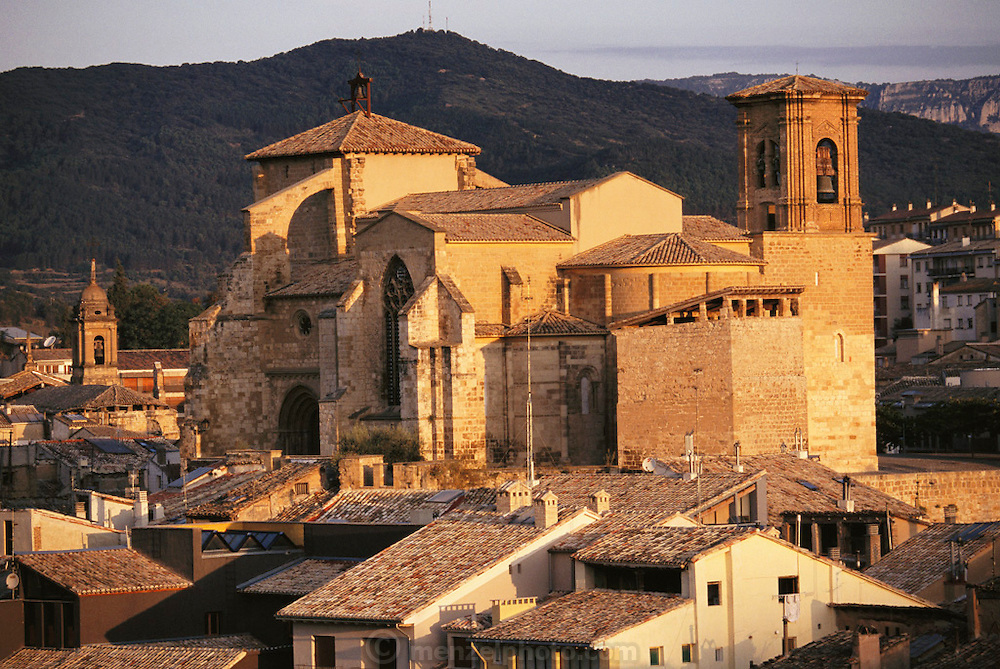 Cathedral in Estella, Navarra, Spain.