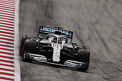 May 11, 2019 - Barcelona, Catalonia, Spain - Lewis Hamilton of Great Britain driving the (44) Mercedes AMG Petronas F1 Team Mercedes W10 during qualifying for the F1 Grand Prix of Spain at Circuit de Barcelona-Catalunya on May 11, 2019 in Barcelona, Spain. (Credit Image: © Jose Breton/NurPhoto via ZUMA Press)