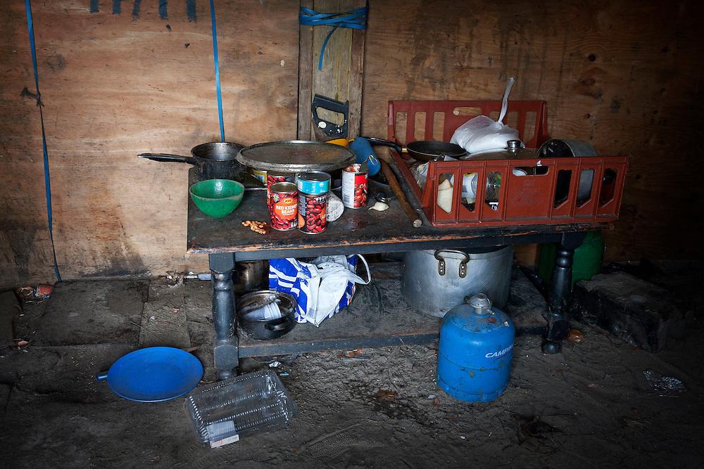 Kitchen, The Jungle, refugee camp, France