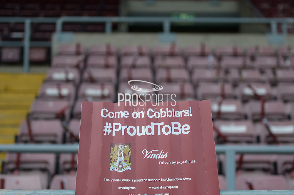 """""""Cobblers Clappers""""  during the Sky Bet League 2 match between Northampton Town and Cambridge United at Sixfields Stadium, Northampton, England on 12 March 2016. Photo by Dennis Goodwin."""