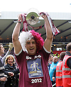 The William Hill Scottish FA Cup Final 2012 Hibernian Football Club v Heart Of Midlothian Football Club..19-05-12...    Hearts Rudi Skacel with the cup    during the William Hill Scottish FA Cup Final 2012 between (SPL) Scottish Premier League clubs Hibernian FC and Heart Of Midlothian FC. It's the first all Edinburgh Final since 1986 which Hearts won 3-1. Hearts bid to win the trophy since their last victory in 2006, and Hibs aim to win the Scottish Cup for the first time since 1902....At The Scottish National Stadium, Hampden Park, Glasgow...Picture Pauline Davison/ ProLens PhotoAgency/ PLPA.Saturday 19th May 2012.