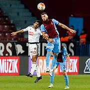 Trabzonspor's Aykut Demir (R) during their Turkish Super League match Trabzonspor between Gaziantepspor at the Avni Aker Stadium at Trabzon Turkey on Wednesday, 28 October 2015. Photo by Aykut AKICI/TURKPIX