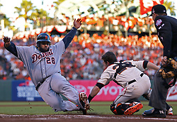 Buster Posey tags out Prince Fielder in Game 2, 2012