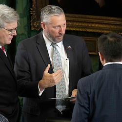 Texas Senate action on Monday, May 17, 2021 showing Sen. Drew Springer, R-Muenster