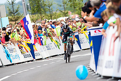 Rafal Majka of Bora Hansgrohe during 5th Time Trial Stage of 25th Tour de Slovenie 2018 cycling race between Trebnje and Novo mesto (25,5 km), on June 17, 2018 in  Slovenia. Photo by Matic Klansek Velej / Sportida