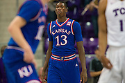 FORT WORTH, TX - FEBRUARY 6: Cheick Diallo #13 of the Kansas Jayhawks looks on against the TCU Horned Frogs on February 6, 2016 at the Ed and Rae Schollmaier Arena in Fort Worth, Texas.  (Photo by Cooper Neill/Getty Images) *** Local Caption *** Cheick Diallo