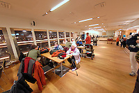 Hurtigruten Waiting Area in Bergen, Norway. Image taken with a Nikon Dxs and 10.5 mm f/2.8 fisheye lens (ISO 400, 10.5 mm, f/2.8, 1/10 sec)